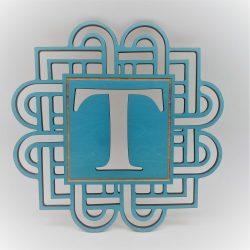 Better Letters Geometric Large-T-Blue