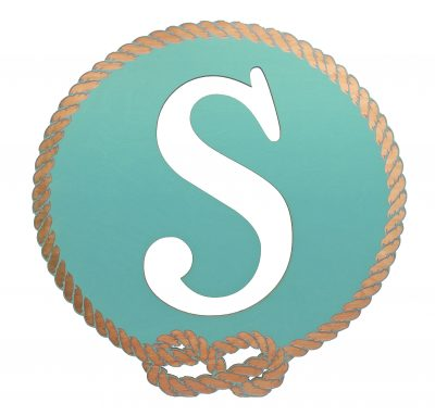 Better Letters Nautical Small-B-Aqua