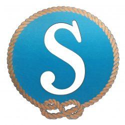 Better Letters Nautical Large-D-Blue