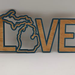 Home Decor LOVE MI CW Blue